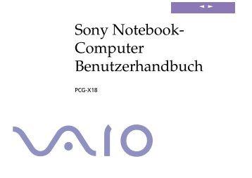 Sony PCG-X18 - PCG-X18 Istruzioni per l'uso Tedesco