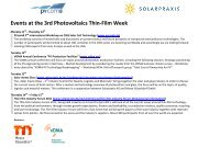 Events at the 3rd Photovoltaics Thin-Film Week - Helmholtz-Zentrum ...
