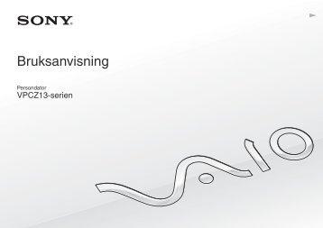 Sony VPCZ13A7E - VPCZ13A7E Istruzioni per l'uso Svedese
