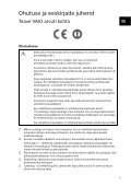 Sony SVL2412M1E - SVL2412M1E Documenti garanzia Estone - Page 5