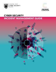 CYBER SECURITY INCIDENT MANAGEMENT GUIDE