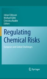 Regulating Chemical Risks: European and Global Challenges