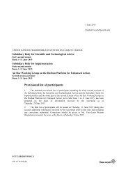 Provisional list of participants