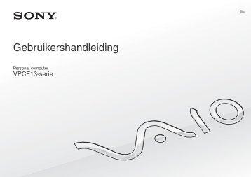 Sony VPCF13S1R - VPCF13S1R Istruzioni per l'uso Olandese