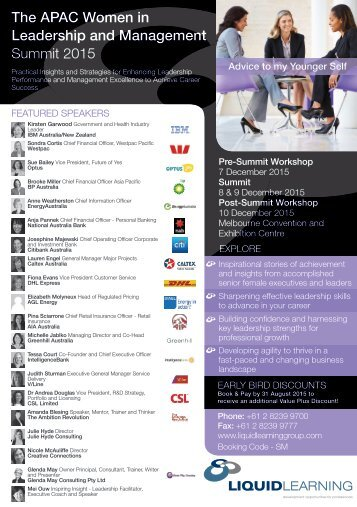 The APAC Women in Leadership and Management Summit 2015