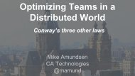 Optimizing Teams in a Distributed World