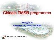China's TMSR programme