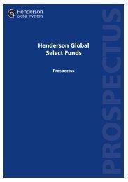 Henderson Global Select Funds - Henderson Global Investors