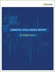 SYMANTEC INTELLIGENCE REPORT OCTOBER 2015