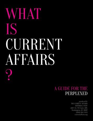 WHAT IS CURRENT AFFAIRS ?