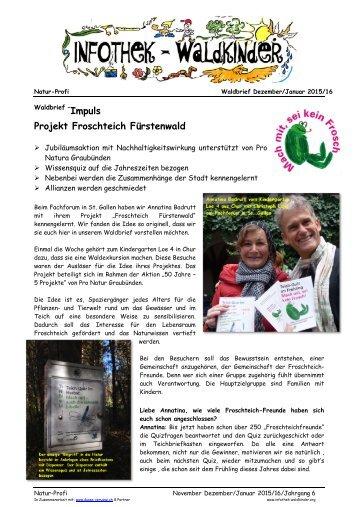 Infothek Waldkinder - Mach mit, sei kein Frosch - Froschteich Fürstenwald