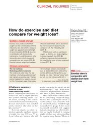 How do exercise and diet compare for weight loss?