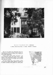 Y. Mimar Muallim T. Cansever Eski bir evin bodrum katı
