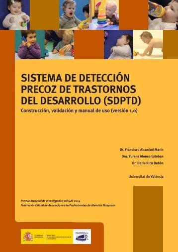 SISTEMA DE DETECCIÓN PRECOZ DE TRASTORNOS DEL DESARROLLO (SDPTD)