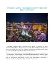 FABULOUS VEGAS - THE OPPORTUNITY TO BECOME RICH OVERNIGHT