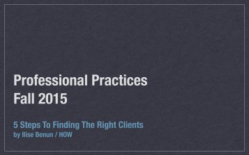 Professional Practices Fall 2015