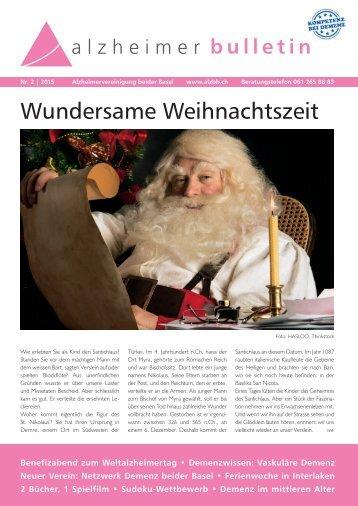 Wundersame Weihnachtszeit – Alzheimer-Bulletin 2/2015