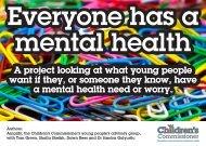 Everyone has a mental health