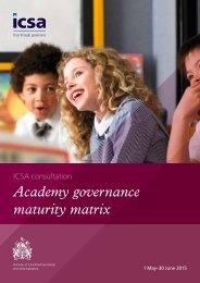 Academy governance maturity matrix