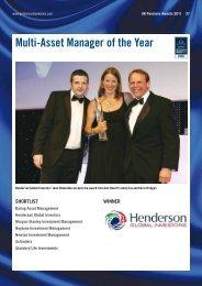 Winner ShortliSt - Henderson Global Investors