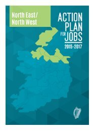 Action Plan for Jobs North East /North West 2015-2017