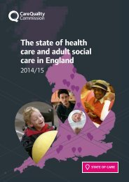 The state of health care and adult social care in England