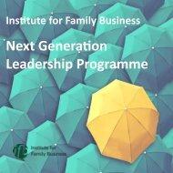 Next Generation Leadership Programme