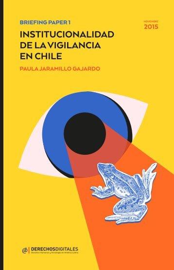 INSTITUCIONALIDAD DE LA VIGILANCIA EN CHILE