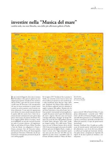 """investire nella """"Musica del mare"""""""