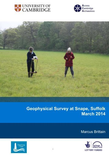 Geophysical Survey at Snape Suffolk March 2014