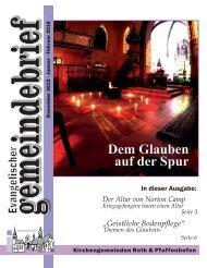 Evang. Kirchengemeinde Roth - Gemeindebrief Dez 2015 bis Feb 2016