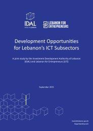 Development Opportunities for Lebanon's ICT Subsectors