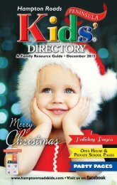 Hampton Roads Kids' Directory: December 2015 Peninsula Edition