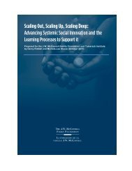 Advancing Systemic Social Innovation and the Learning Processes to Support it