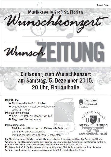 Wunschzeitung - Konzert 5. Dezember 2015
