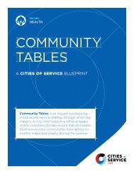 COMMUNITY TABLES