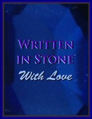 Written in Stone with Love