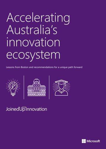 Accelerating Australia's innovation ecosystem