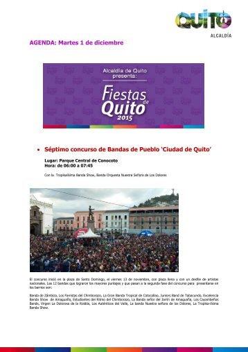 """Séptimo concurso de Bandas de Pueblo """"Ciudad de Quito"""""""