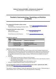 Paediatric Gastroenterology, Hepatology And ... - London Deanery