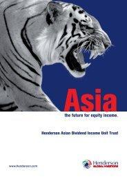 Asia - Henderson Global Investors