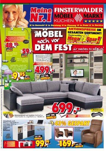 Mega-Spar: Möbel noch vor dem Fest!