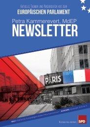 Infobrief der Europaabgeordneten Petra Kammerevert - Ausgabe: November 2015 Nr. 9