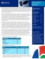 NASDAQ symbols - Henderson Global Investors