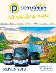 Pernsteiner Reisen - Reisekatalog 2016