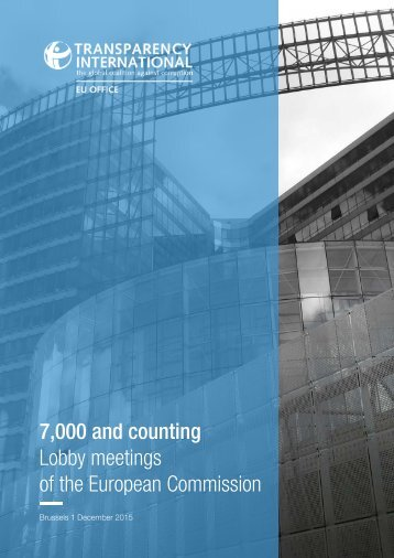 7,000 and counting Lobby meetings of the European Commission