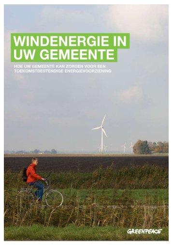 Windenergie in uw gemeente