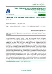 Assessment of the vegetation cover of northern high mountains in Jordan - JBES