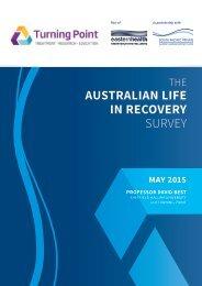 AUSTRALIAN LIFE IN RECOVERY SURVEY