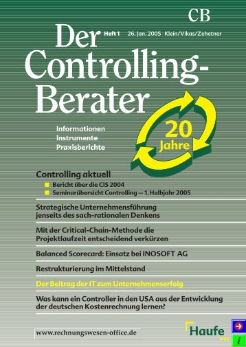 CB Controlling aktuell - bps - business process solutions GmbH